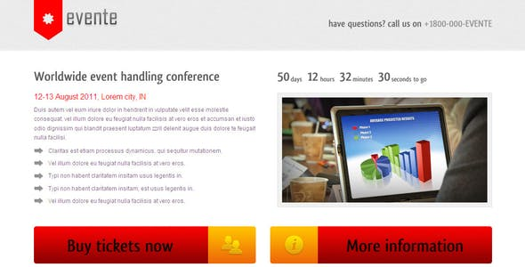 Event Landing Page Templates from ThemeForest