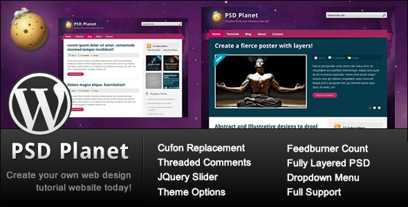 PSD Planet WP - Blog / Magazine WordPress