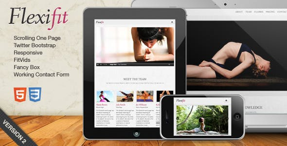 FlexiFit - One Page Scrolling Html5 Template