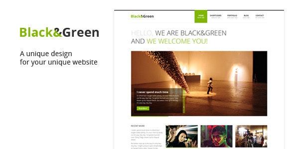 Black & Green - Portfolio Creative