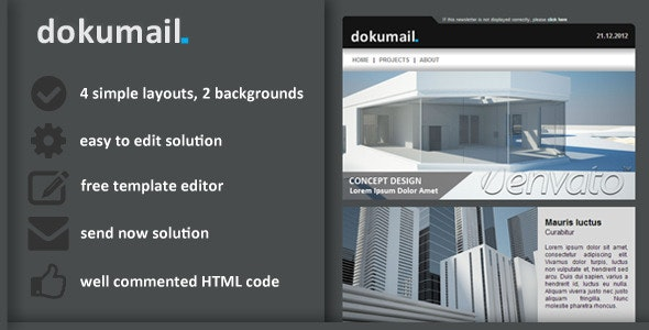 dokumail Email Newsletter - Email Templates Marketing