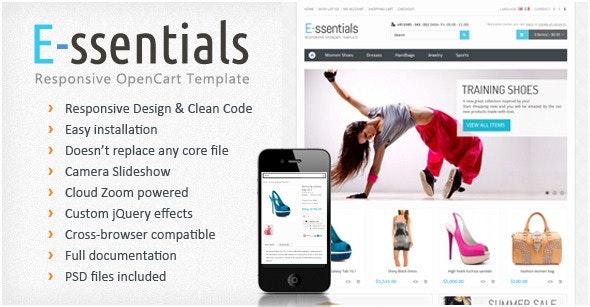 E-ssentials - Responsive OpenCart Template - OpenCart eCommerce