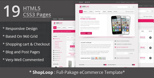 Shoploop: Responsive Html5 eCommerce Template  - Shopping Retail