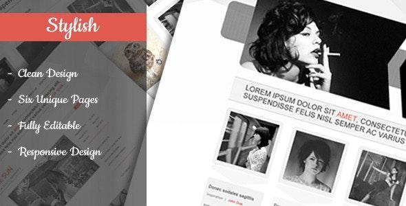 Stylish - Clean & Flexible PSD Template - Creative Photoshop