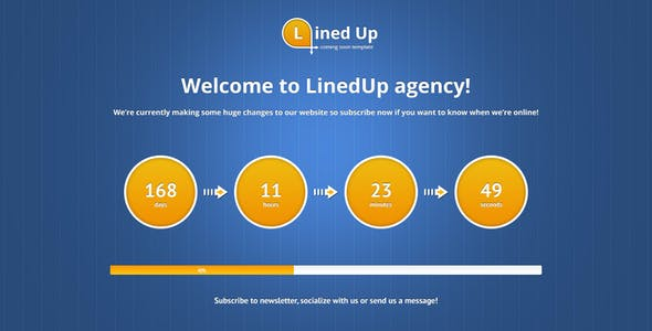 LinedUp Responsive Coming Soon Template