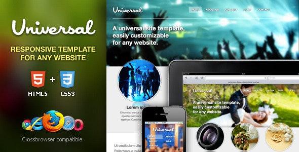 Universal Responsive HTML5/CSS3 Template - Creative Site Templates