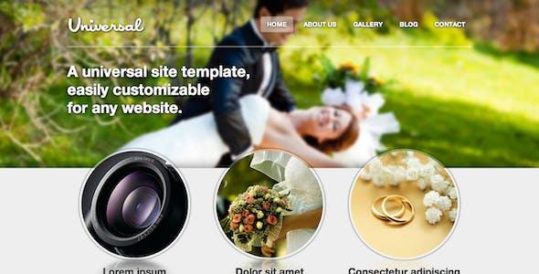 Universal Responsive HTML5/CSS3 Template