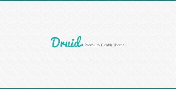 Druid A Premium Tumblr Theme - Blog Tumblr