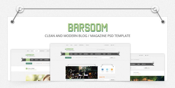 Barsoom - 12 PSD Magazine, News and Blog Template - Corporate Photoshop