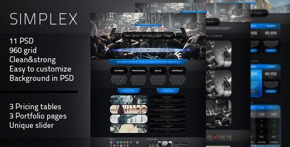 Simplex - PSD Theme - Creative Photoshop