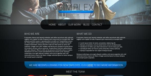 Simplex - PSD Theme