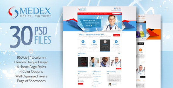 Medex - Medical, Doctor and Health care PSD Theme - Health & Beauty Retail