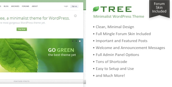 Tree - Minimal Blog WordPress Theme - Personal Blog / Magazine