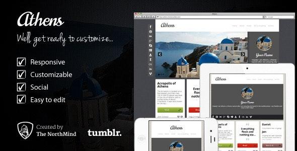 Athens Theme - Portfolio Tumblr