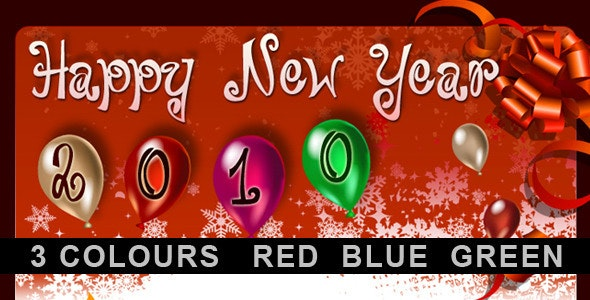 Happy New Year - 3 COLORs - Newsletters Email Templates