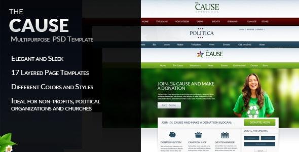 The Cause - Multipurpose Non-Profit PSD Template - Nonprofit PSD Templates