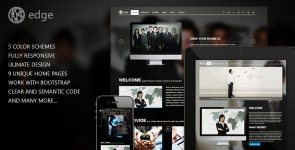 Edge Corporate Web Template - Corporate Site Templates