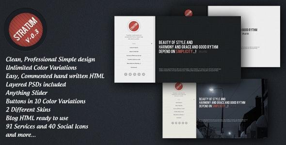 Stratum – HTML single page Template - Portfolio Creative