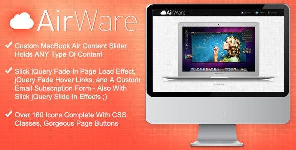 AirWare Mac App Website Template - Software Technology