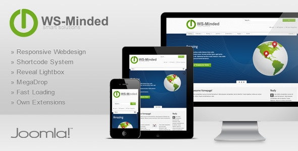 WS-Minded - Responsive Joomla Template - Technology Joomla