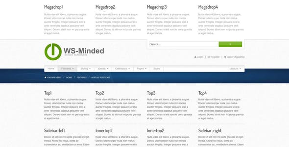 WS-Minded - Responsive Joomla Template