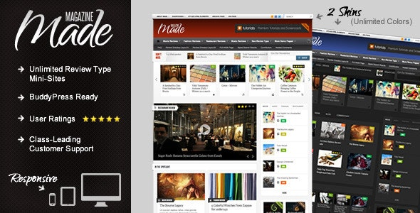 Made - Responsive Review/Magazine Theme - Blog / Magazine WordPress