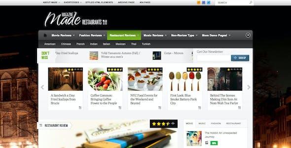 Made - Responsive Review/Magazine Theme