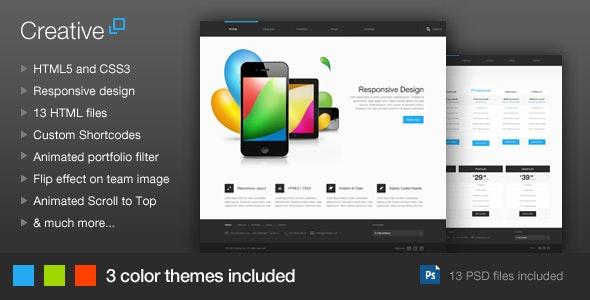 Creative - Responsive HTML Template - Creative Site Templates