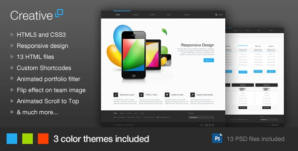 Creative - Responsive HTML Template