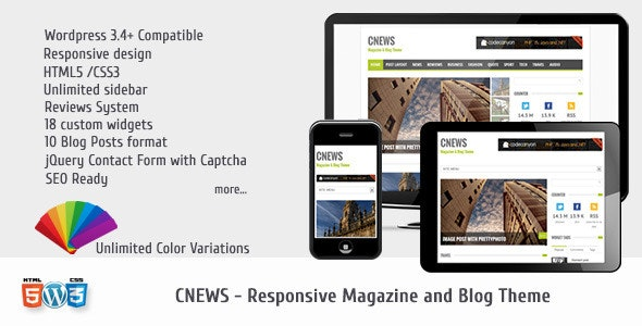 CNEWS - Responsive Magazine and Blog Theme - Blog / Magazine WordPress