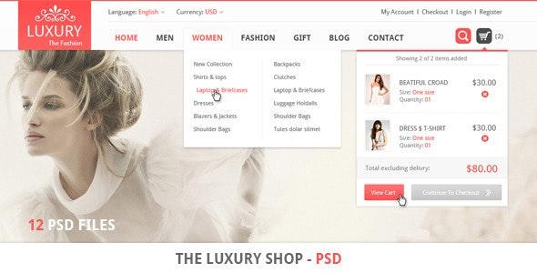 The Luxury Shop - PSD - Retail Photoshop