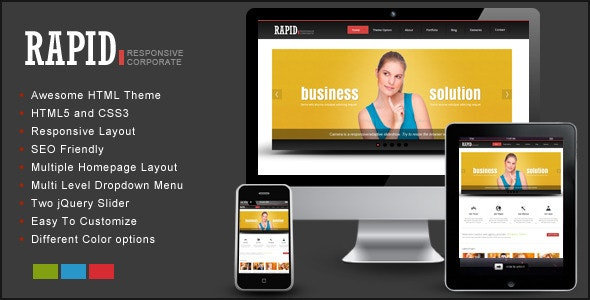 Rapid – Responsive HTML Template - Corporate Site Templates