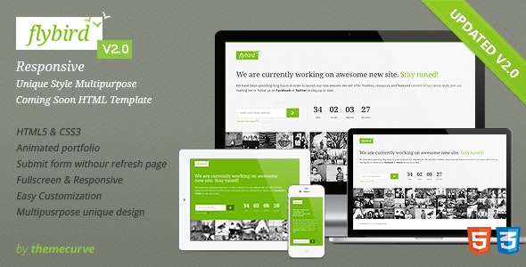 Flybird - Coming Soon Page - Under Construction Specialty Pages
