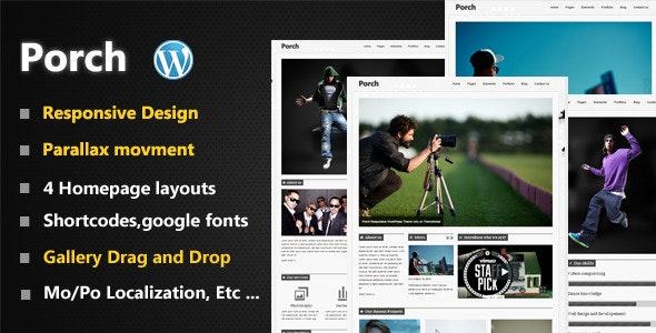 Porch Responsive Minimal WP Theme - Creative WordPress