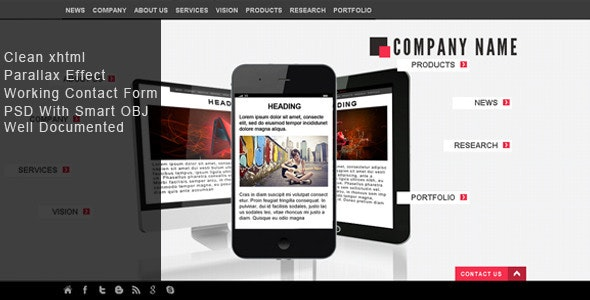 Asymmetric Design  - Creative Site Templates