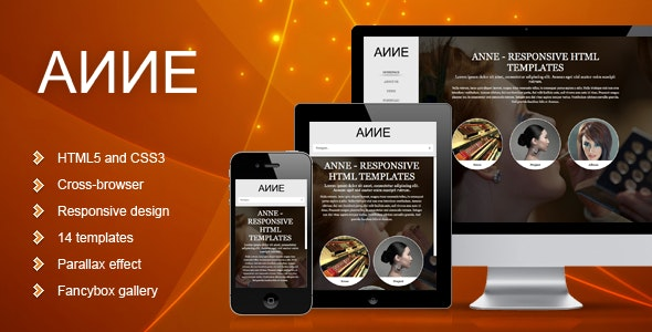 Anne - Responsive Template - Creative Site Templates