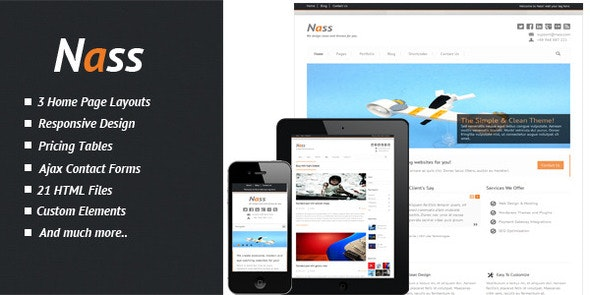 Nass - Responsive HTML Template - Business Corporate