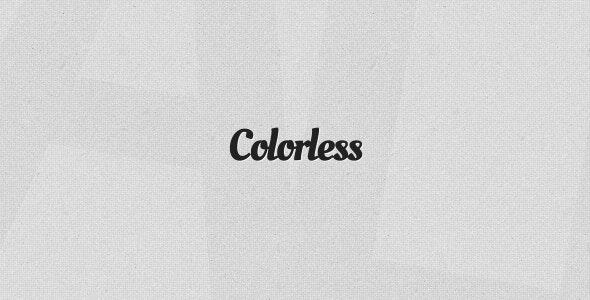 Colorless - Monochrome Tumblr Theme - Blog Tumblr