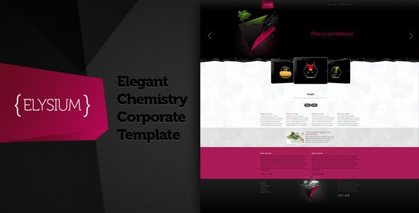 Elysium -Elegant Chemistry Corporate Theme - Corporate Site Templates