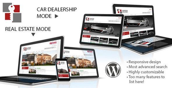 OpenDoor Responsive Real Estate and Car Dealership - Real Estate WordPress