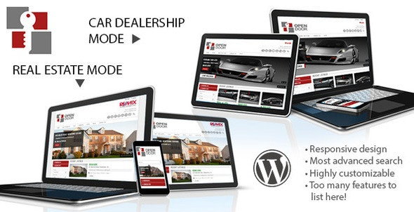 OpenDoor Responsive Real Estate and Car Dealership - Real Estate WordPress