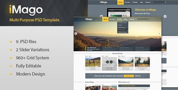 Imago - Multi Purpose PSD Template - Portfolio Creative