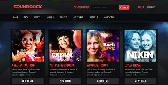 Sound Rock - Music Band Wordpress Theme