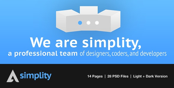 Simplity: Portfolio PSD Theme - Light/Dark Version - Portfolio Creative