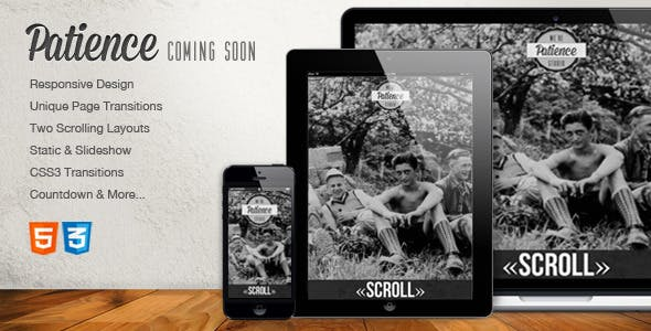 Patience - Responsive Coming Soon HTML5 Template