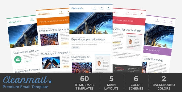 Clean Mail - Minimal Email Template - Newsletters Email Templates