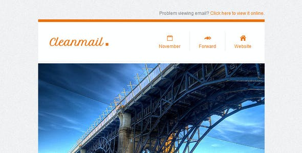 Clean Mail - Minimal Email Template