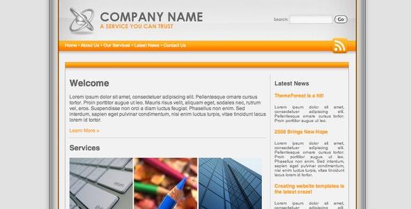 Platinum Orange Professional Template - Corporate Site Templates