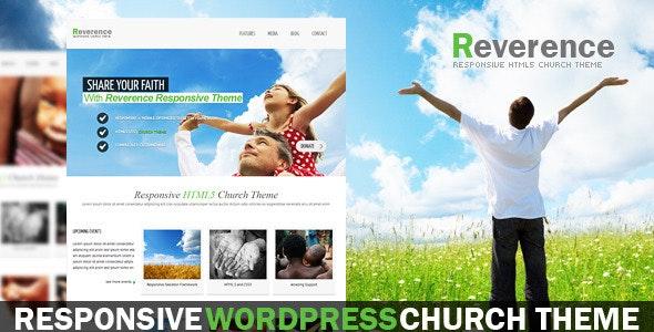 Reverence - Church Responsive WordPress HTML 5 The - Churches Nonprofit