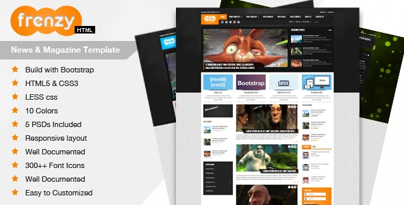 Frenzy - Responsive Bootstrap Template - Creative Site Templates